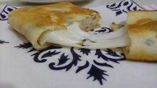 Kahvaltı ve Çay saatlerine Tavada Kolay Krep Börek Tarifi AŞIRI Kolay