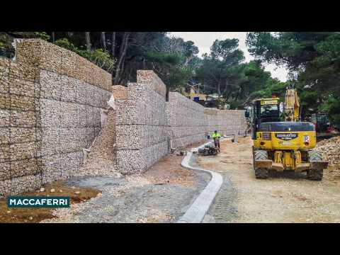Time-lapse of Maccaferri Terramesh System installation