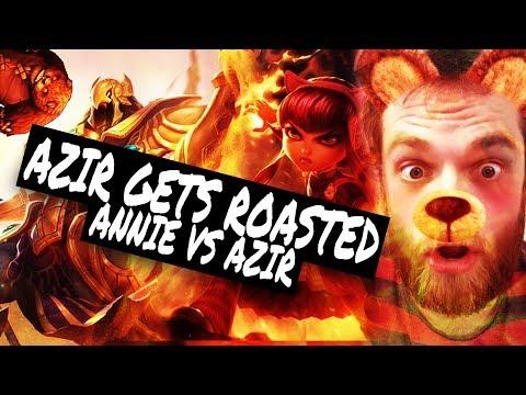 Annie Mid Vs Azir - First annie game - Roastign The Chicken