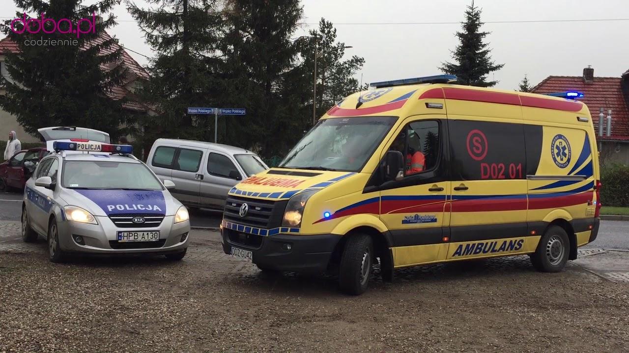 Wypadek przy ul  Wojska Polskiego