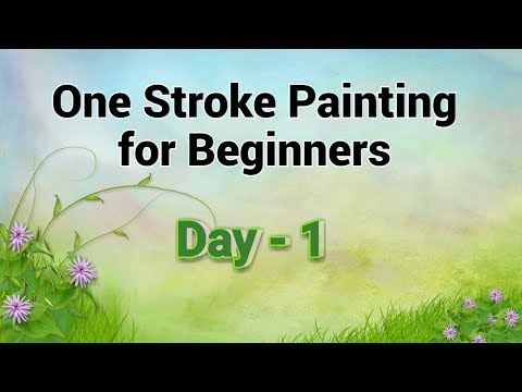 One Stroke Painting for Beginners - Day 1 | Acrylic Painting Tutorial