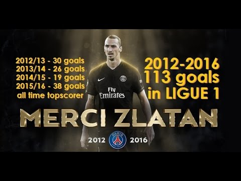 Zlatan Ibrahimovic all 113 goals for PSG in Ligue 1 (2012-2016)