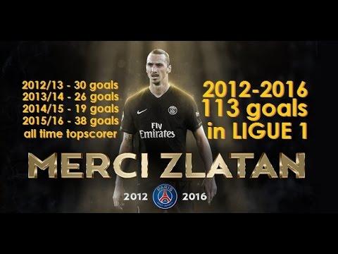 Zlatan Ibrahimović all 113 goals for PSG in Ligue 1 (2012-2016)