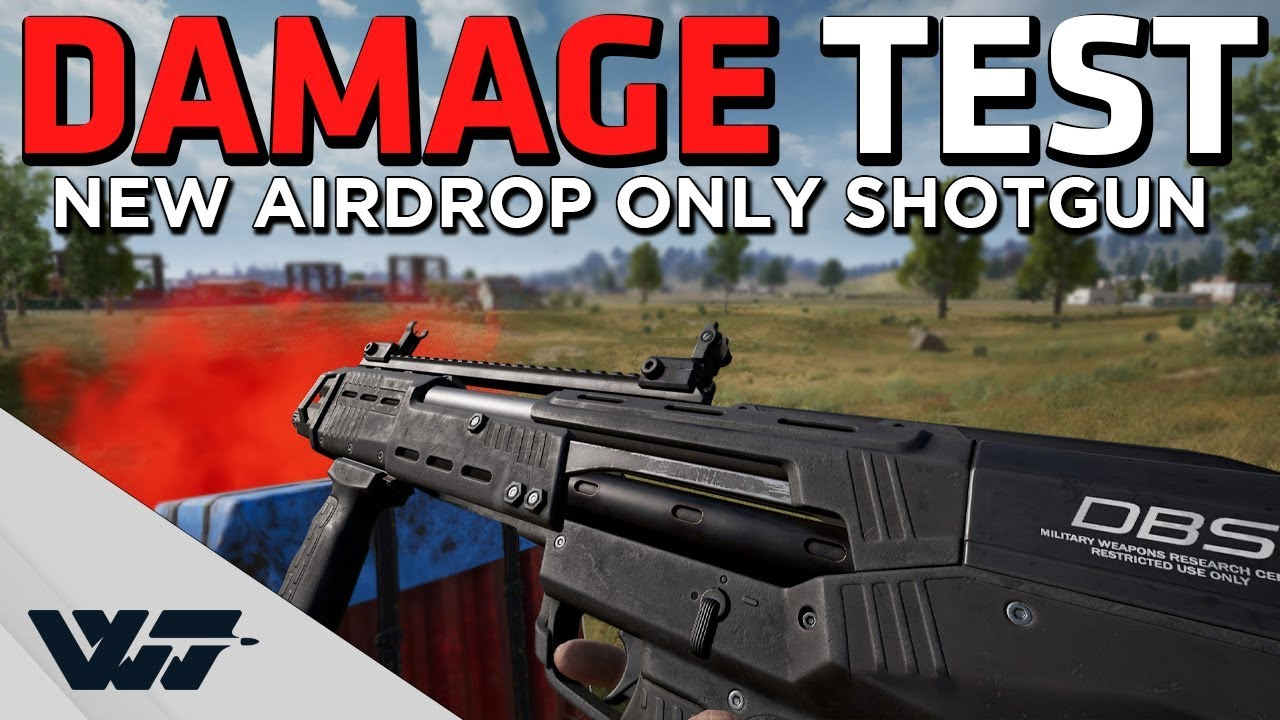 NEW AIRDROP SHOTGUN - Damage test video, does it HURT? - PUBG