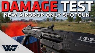 NEW AIRDROP SHOTGUN - Damage test video, does it HURT? - PUBG
