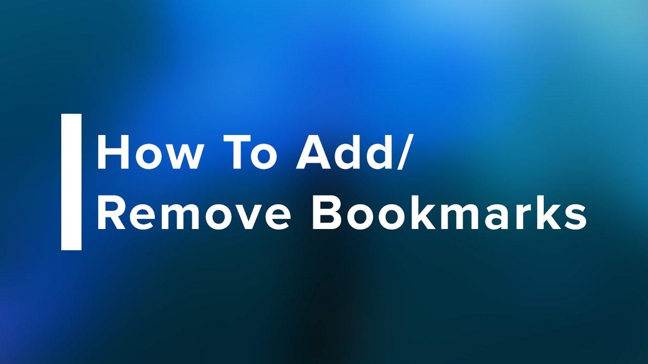 Remove Bookmarks In Safari