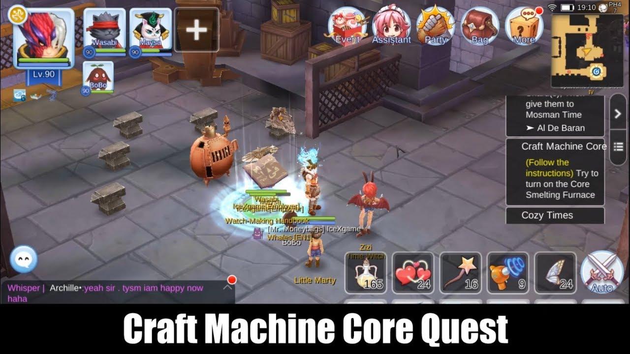 Ragnarok M Eternal Love Craft Machine Core Quest - YouTube