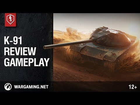 World of Tanks Blitz. K-91 Review and Gameplay