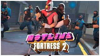 Hotline Fortress: Идеальное сочетание Hotline Miami и Team Fortress 2!