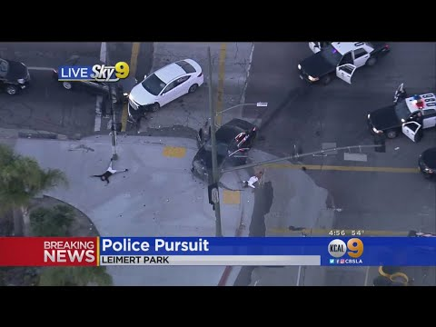 Car Slams Into Vehicle During Police Pursuit In South LA