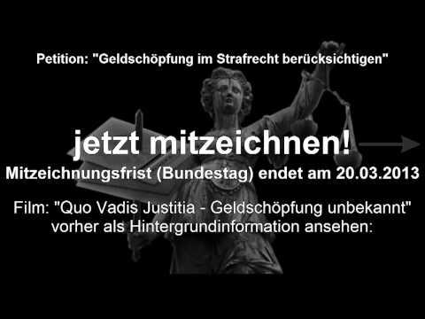 Bis 20.03.2013: PETITION für KREDITNEHMER  (Geld Kredit Bank Banken Bankkredit Geldschöpfung)