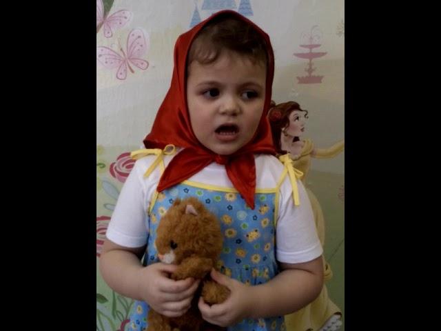 Изображение предпросмотра прочтения – ЮляБудникова читает произведение «Потешка Кошкин дом» (Русский фольклор )