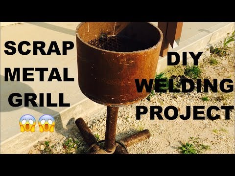 Making a Scrap Metal Grill || DIY Welding Project