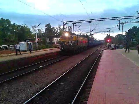 Saptagiri WAM4 Ernakulam Passenger twilights Tiruvalla