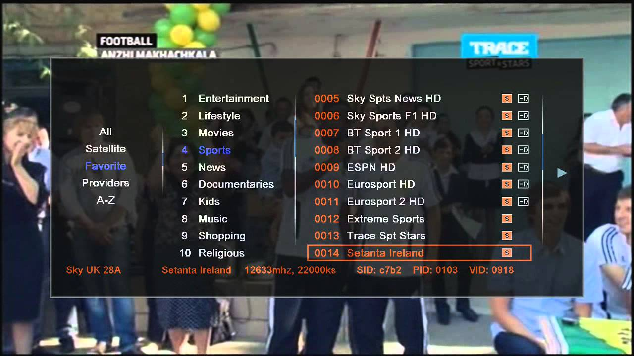 Sky Box F5s All Channels Sky Uk 28 2 Demonstration Youtube