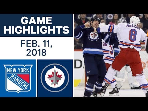 NHL Game Highlights | Rangers vs. Jets - Feb. 11, 2018