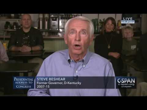 Former Kentucky governor Steve Beshear delivers democrats response to Trump speech