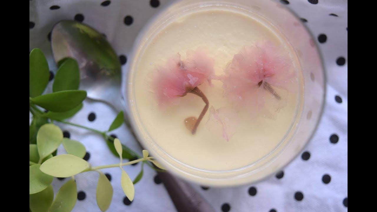 panna cotta hoa anh đào | cherry blossom pannacotta