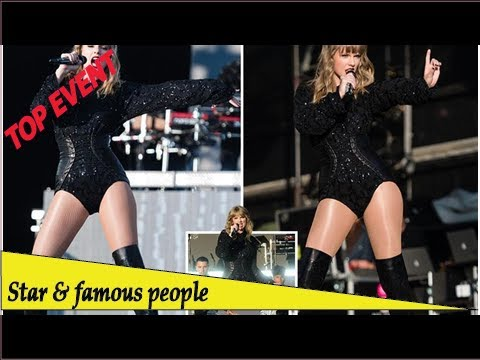 3f61d2c8530 Top Event - Taylor Swift gyrates in a leather corset and thigh-high boots  as she steals the show .