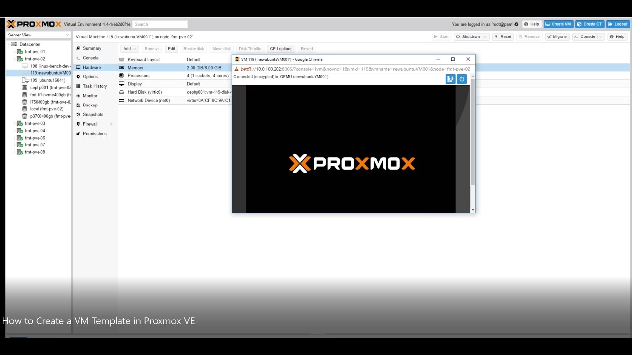 How To Create A Vm Template In Proxmox Ve Youtube