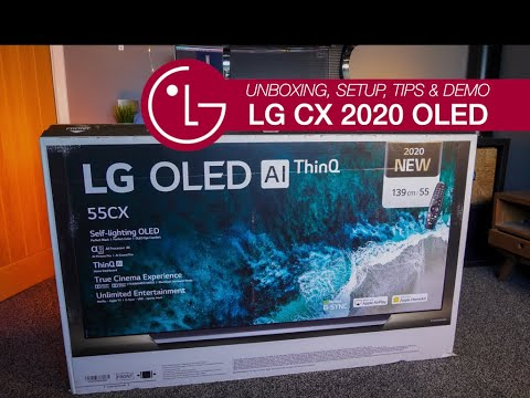 LG CX OLED Latest Model Unboxing, Setup Tips & Demo