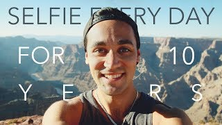 Daniel takes a selfie every day for 10 years - 4K