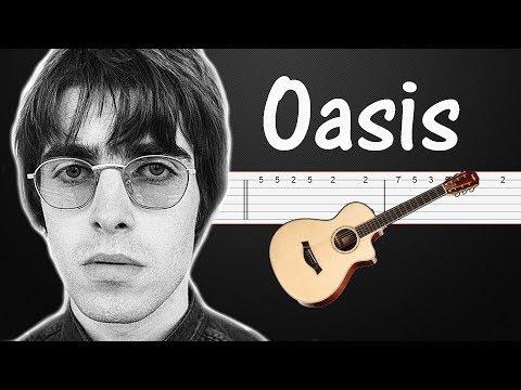 Wonderwall Oasis Guitar Tabs Tutorial Fingerstyle Bass Guitar