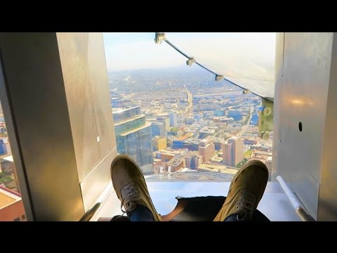 WORLD'S HIGHEST SLIDE!!!! I WENT DOWN! (not clickbait)