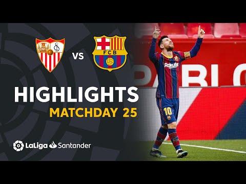 Highlights Sevilla FC vs FC Barcelona (0-2)