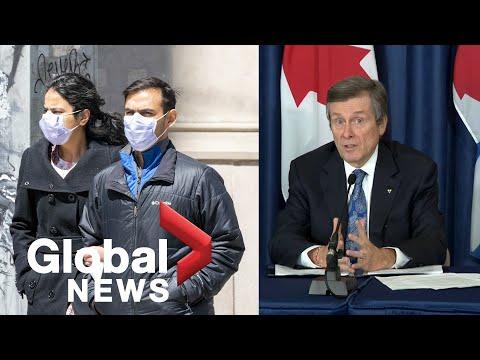 Coronavirus outbreak: Toronto mayor says lifting of state of emergency dependent on residents | FULL