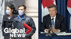 Coronavirus outbreak: Toronto mayor says lifting of state of emergency dependent on residents | FULL
