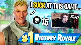 I Got CARRIED By A NOOB In Fortnite! (He Said He Wasn't GOOD!)