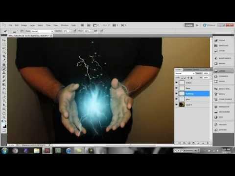 Hướng dẫn học photoshop Tạo quả cầu ánh sáng dễ dàng.