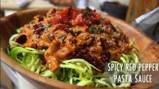 Quick And Easy Raw Vegan Spicy Red Pasta Sauce Recipe