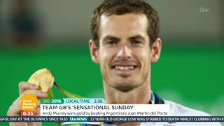 Andy Murray Wins Gold At The Rio Olympics | Good Morning Britain