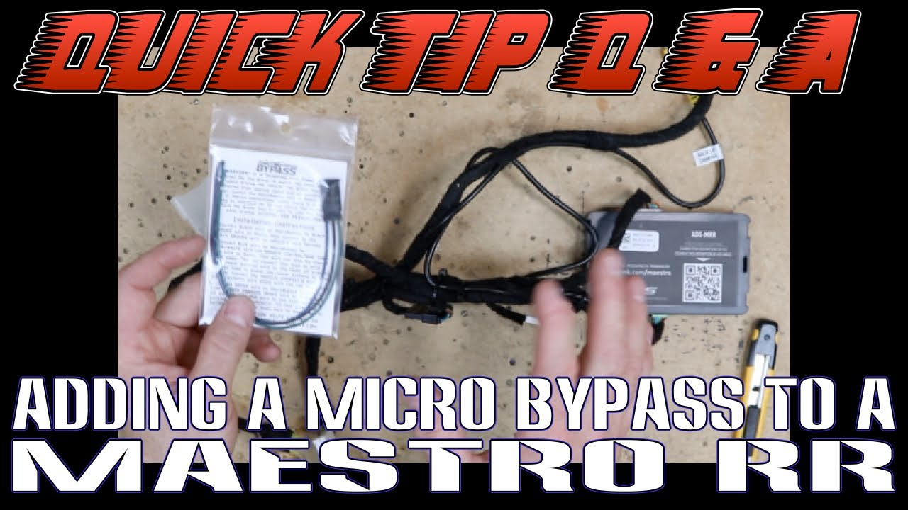 how to add a micro bypass to a maestro rr harness for a pioneer radio [ 1280 x 720 Pixel ]