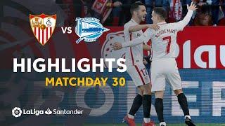 Highlights Sevilla FC vs Deportivo Alaves (2-0)