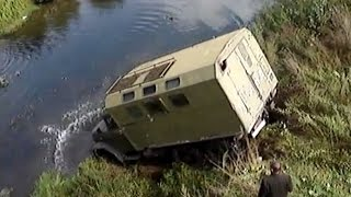 Repeat youtube video Russian Trucks Crossing River Trucks in Extreme Conditions