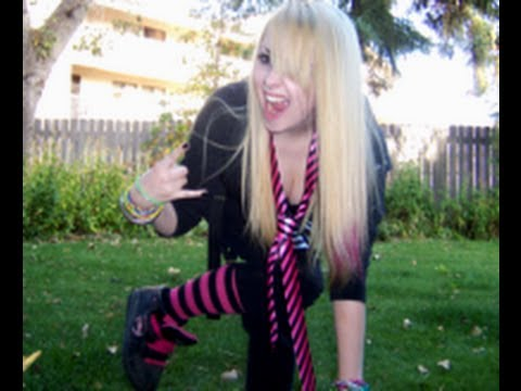 avril lavigne halloween tutorial complete outfit youtube
