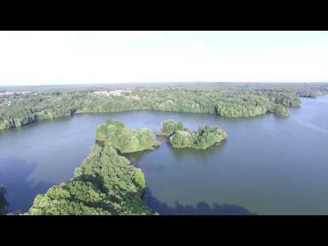 Phantom 3 4K flight over the Mogadore reservoir
