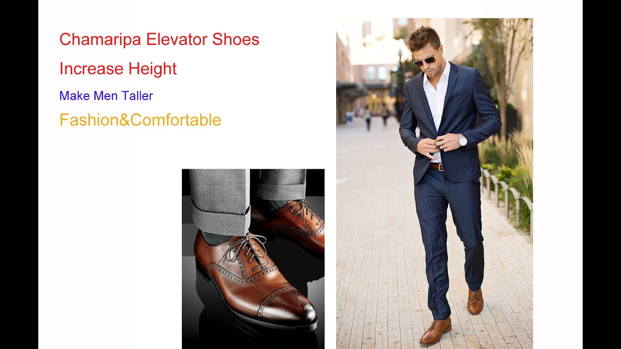 Elevator Men Dress Shoes Increase Height Make You Look Taller 2 5 Inches