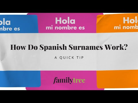 How to List Spanish Surnames