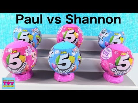Paul vs Shannon 5 Surprise Challenge Toy Opening Review | PSToyReviews