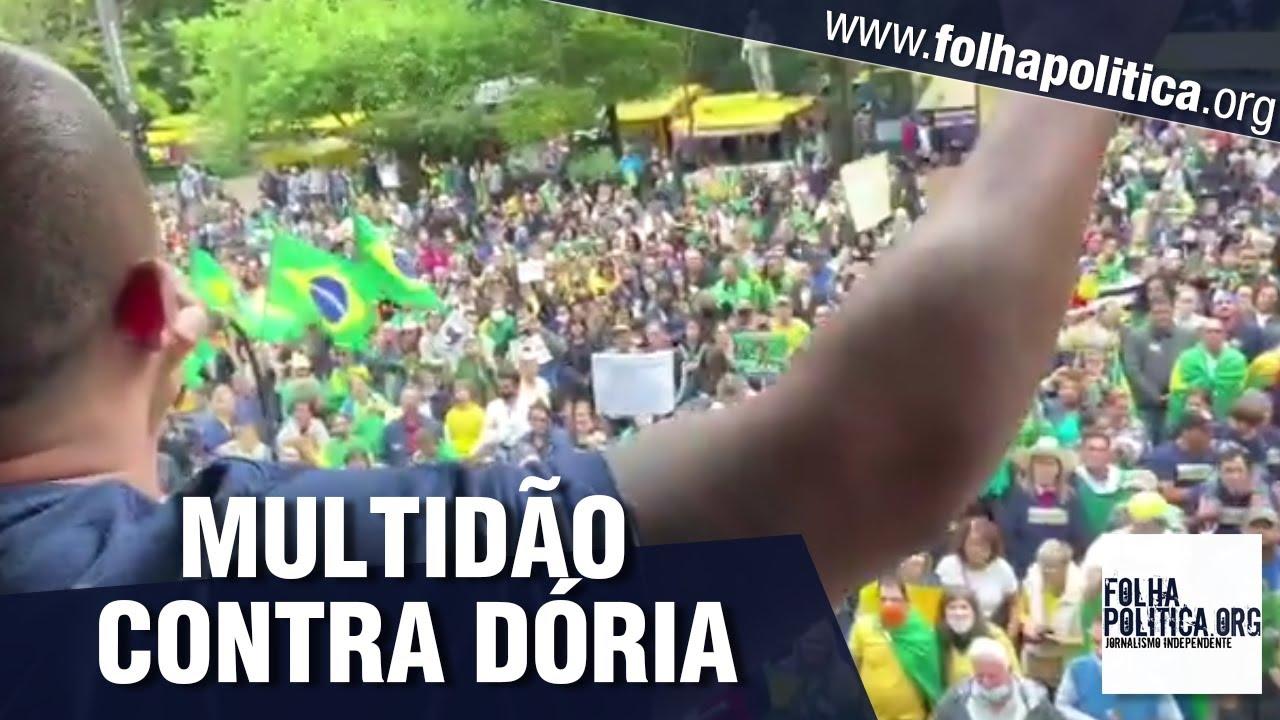 Multidão vai às ruas em São Paulo contra arbitrariedades do Governador João Doria