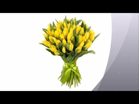 Желтые букеты.  Заказать цветы с доставкой.