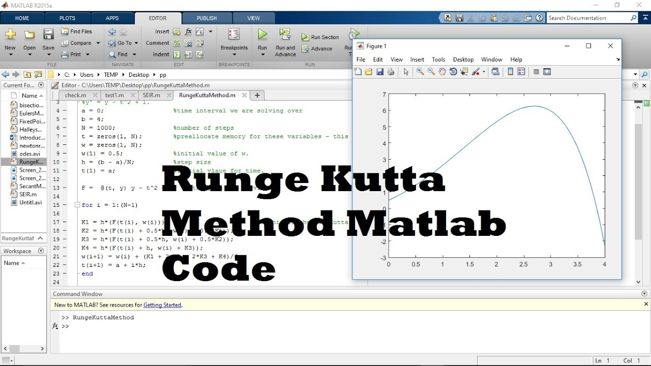 runge-kutta method matlab code