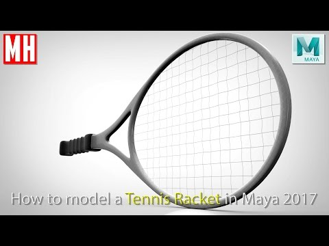 Maya 2017 tutorial : How to model a Tennis Racket