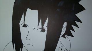 How to draw Sasuke Uchiha.サスケを描画する方法.