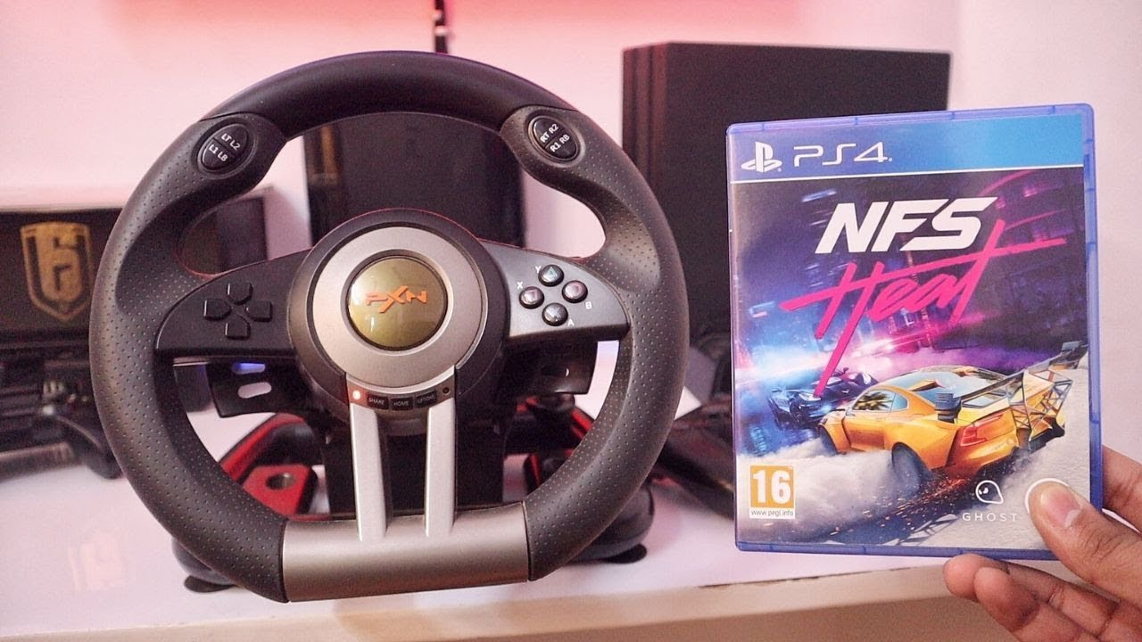 Nfs Heat Unboxing Gameplay With Budget Steering Wheel Youtube