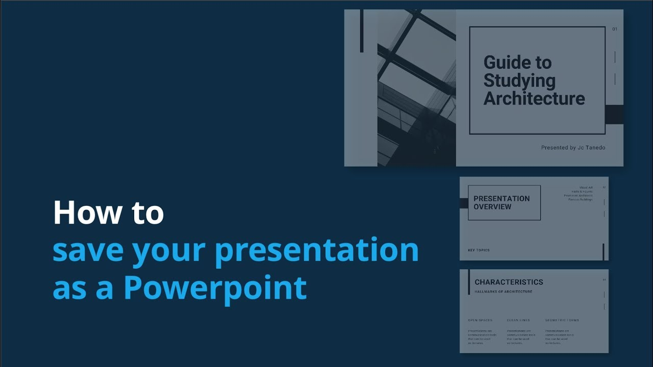 How To Save Your Canva Presentation As A Powerpoint